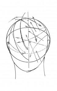 Bernhard Leitner, Verwehter Kopfraum/Blown headscape, Notation, 2003